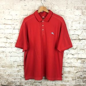 Men's Tommy Bahama Red Polo Shirt Size Large